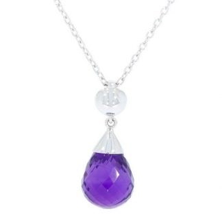 Pear shaped amethyst drop