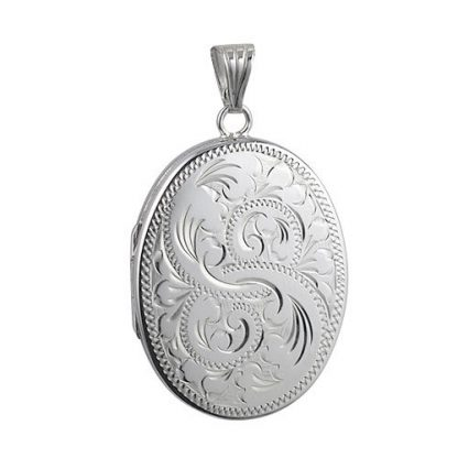 Oval Engraved Locket