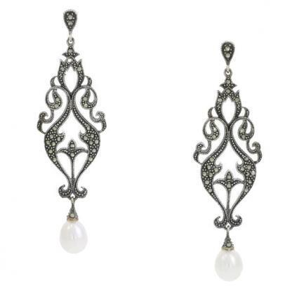 Marcasite & Pearl earrings