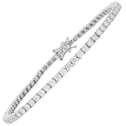 3.34ct Diamond Line Bracelet