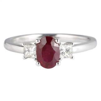 ruby & diamond 3 stone
