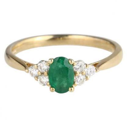 emerald & diamond trefoil