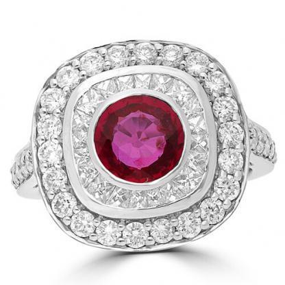 Ruby & French Diamond
