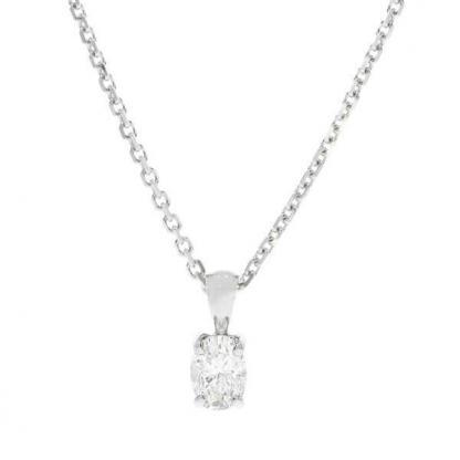Oval Cut Diamond Pendant