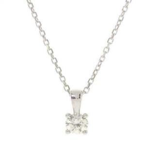 4 claw diamond pendant