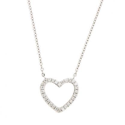 Diamond set heart pendant