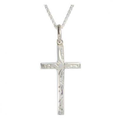 Engraved silver cross