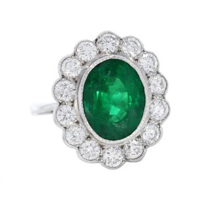 3.51ct Emerald Cluster