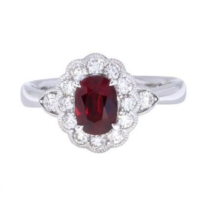 18ct Ruby Cluster Ring