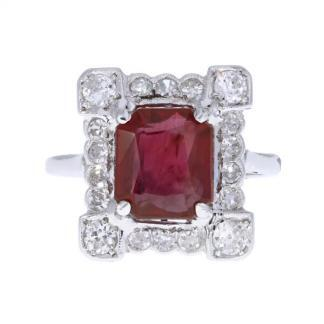 Art Deco Ruby & Diamond