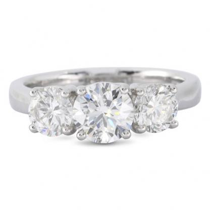2.02ct Diamond 3 Stone Ring
