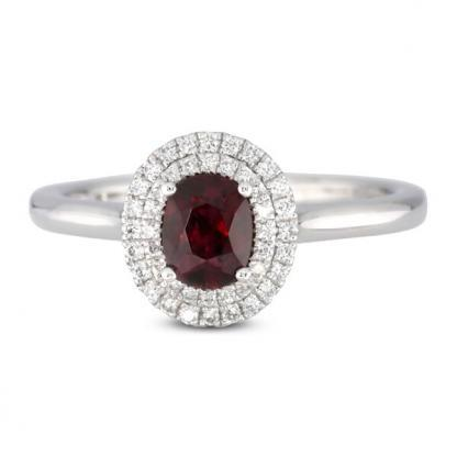 Ruby Double Halo
