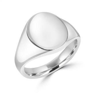 Oval Signet Ring 14x18mm