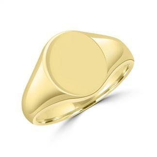 Oval Signet Ring 11x13mm